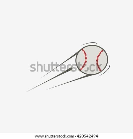 Vector icon of baseball ball - stock vector