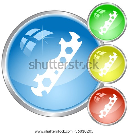vector icon of cycle spanner. All layers are grouped.