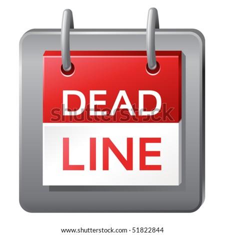 vector icon of dead line icon - stock vector