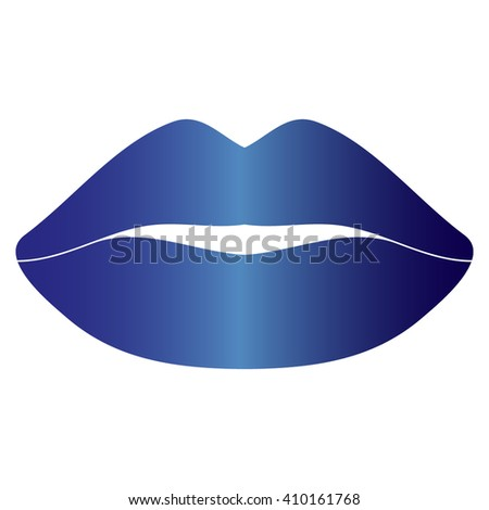 Vector icon of female lips  - stock vector
