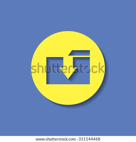 vector icon of folder  - stock vector