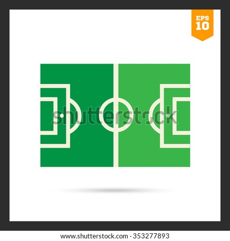 vector icon green football field marking stock vector 353277893 rh shutterstock com football field vector images football field vector images