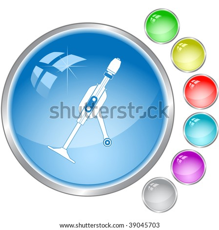 vector icon of hand drill - stock vector