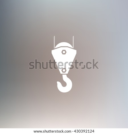 Vector icon of industrial hook - stock vector