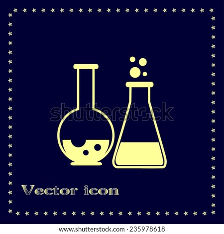 Vector icon of laboratory test tubes - stock vector