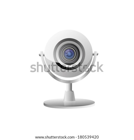vector icon of modern web cam