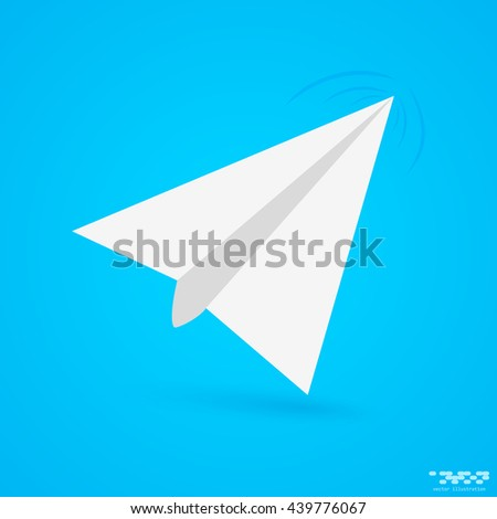 Vector icon of paper airplane