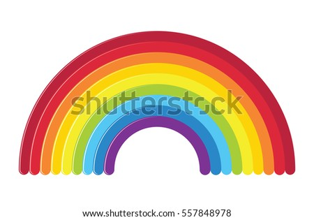 vector icon of rainbow isolated on white background