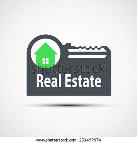 Vector icon of real estate - stock vector