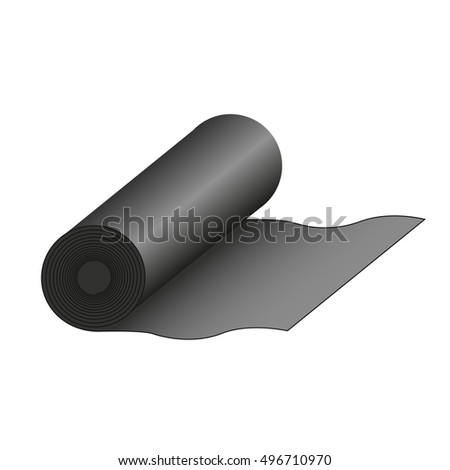 vector icon of roll of fabric or paper roll. Textile roll icon of vector illustration for web and mobile design
