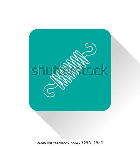 Vector icon of spring - stock vector