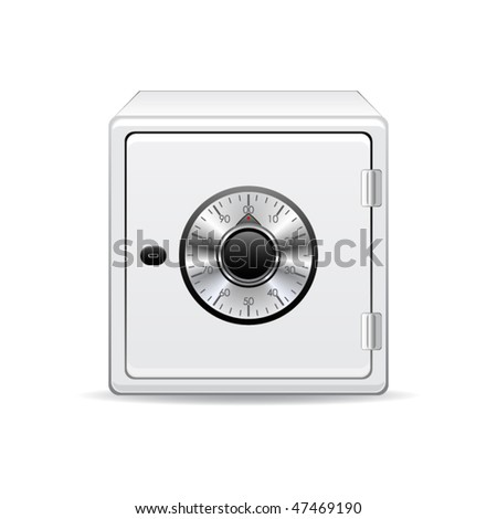 Vector icon of the safe - stock vector