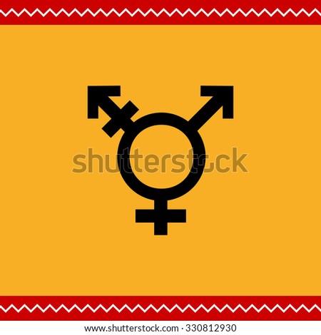 Vector icon of transgender symbol combining gender symbols - stock vector