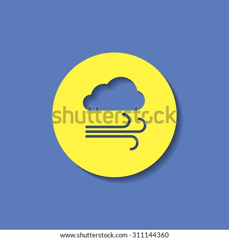vector icon of wind  - stock vector