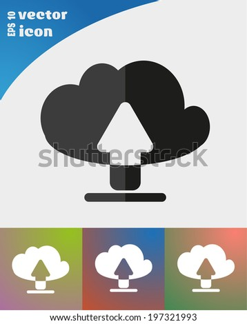 vector icon on colorful background