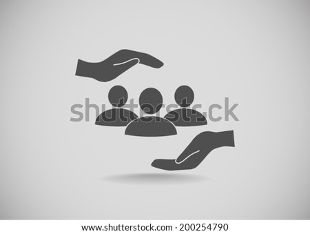 vector icon on gray background - stock vector