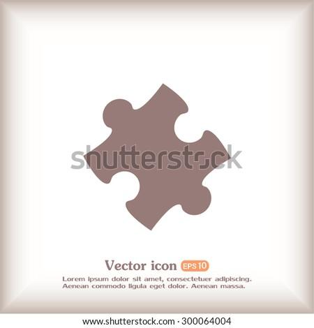 Vector icon puzzle  - stock vector