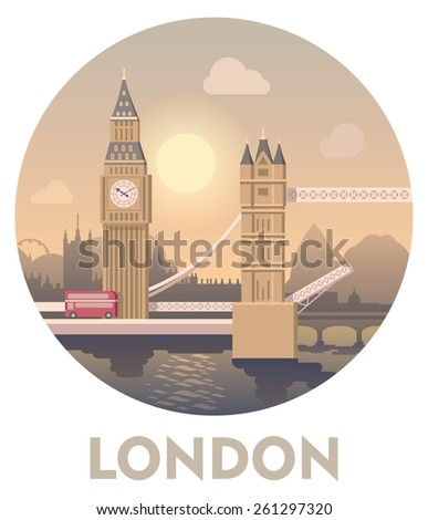 Vector icon representing London as a travel destination  - stock vector