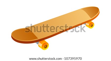 vector icon skateboard