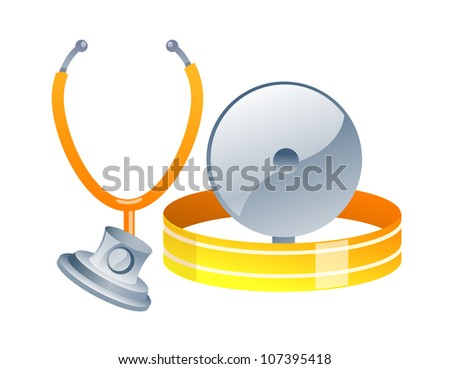 vector icon stethoscope - stock vector
