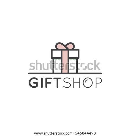Gift Logo Stock Vector 499391644 - Shutterstock