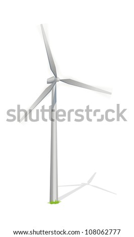 vector icon wind power generation