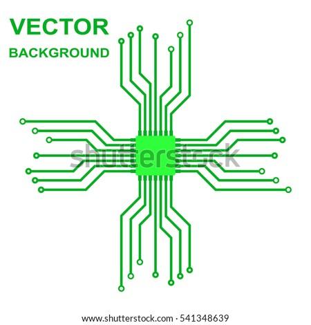 Vector Icon Logo Printed Circuit Board Stock Vector 541348639 ...