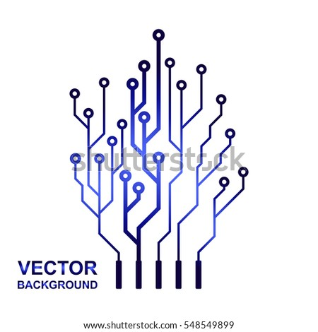 vector icon logo printed circuit board stock vector 2018 548549899 rh shutterstock com printed circuit board electrical symbol printed wiring board symbol