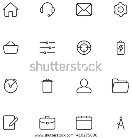 Vector icons and buttons for web  interface or mobile applications.  - stock vector