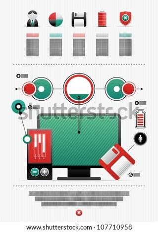 vector icons and infographics - stock vector