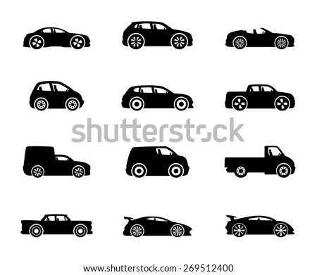 Vector icons. Cars.