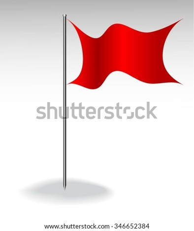 Vector icons flag on red