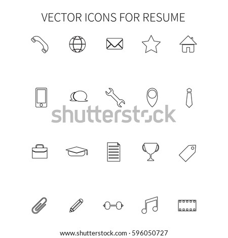 Resume Icon Stock Royalty Free & Vectors #0: stock vector vector icons for resume