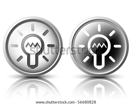 Vector icons in the light and dark tones for web design - stock vector