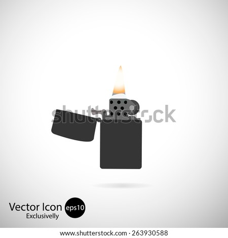 Vector icons. Lighter. Exclusively - stock vector