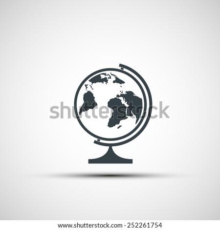 Vector icons of school globe - stock vector