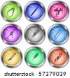Vector icons of tool - stock vector