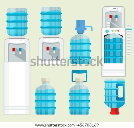 stock vector icons water cooler appliance jug faucet full bottles elements standard size dispenser for sale bottle storage racks
