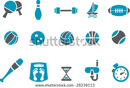 Vector icons pack - Blue Series, sport collection - stock vector
