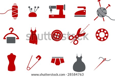 Vector icons pack - Red Series, taylor collection - stock vector
