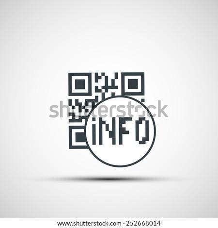 Vector icons qr code - stock vector