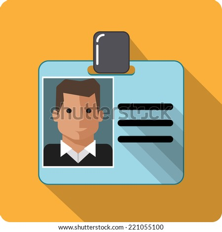 Vector ID Card - stock vector