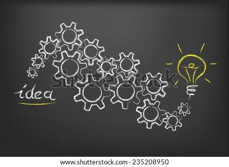 vector idea and bulb concept - stock vector