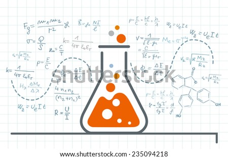 Vector idea and research - stock vector