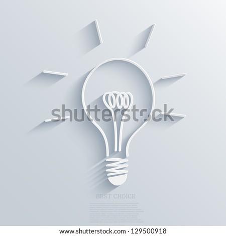 Vector idea background. Eps10 - stock vector