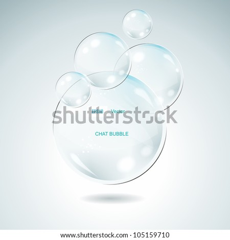 Vector Idea Bulbs. Glass Chat Bubbles - stock vector