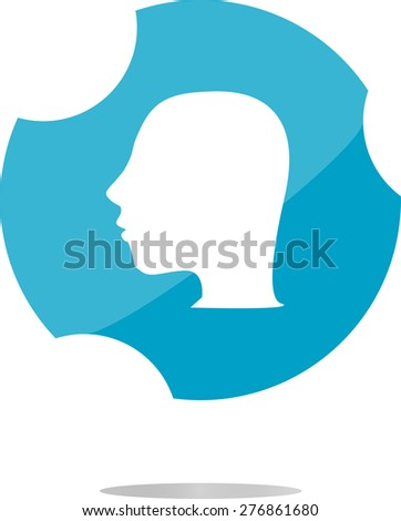 vector Idea head icon button
