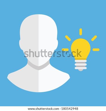 Vector Idea Icon - stock vector
