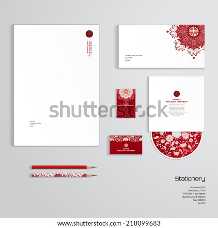 Vector identity templates letterhead envelope business stock vector vector identity templates letterhead envelope business card tag disc with packaging accmission Choice Image