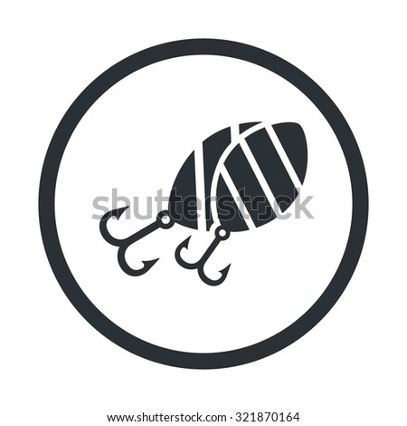 Vector illustartion of fishing and fish icon - stock vector